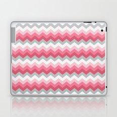 Chevron Pink & Grey Laptop & iPad Skin