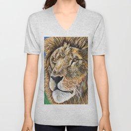 Portrait of a Lion Unisex V-Neck