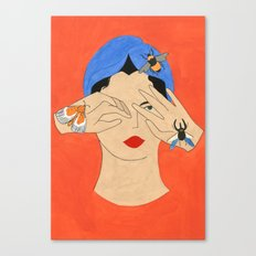 Insects & Turban Canvas Print
