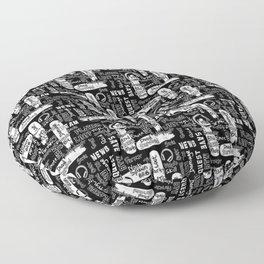 Gamer Lingo-Black and White Floor Pillow
