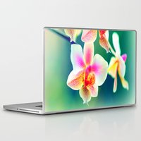 orchid Laptop & iPad Skins featuring orchid by haroulita