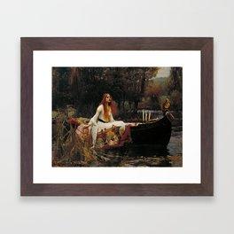 John William Waterhouse - The Lady of Shalott, 1888 Framed Art Print