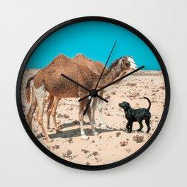 Desert Encounter Wall Clock