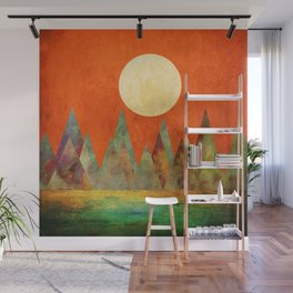 Many Moons Ago, Abstract Landscape Art Wall Mural