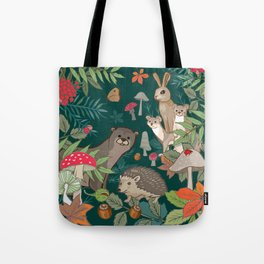 Animals In The Woods Tote Bag