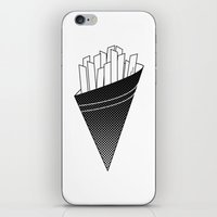 french fries iPhone & iPod Skins featuring French Fries frites by Keep It Simple