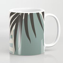 Minimal Tropical Palm Leaf Finesse #2 #tropical #decor #art #society6 Coffee Mug