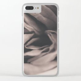 A vintage rose Clear iPhone Case