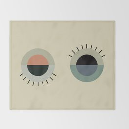 day eye night eye Throw Blanket