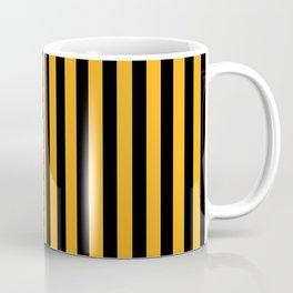 vertical stripes pattern black yellow Coffee Mug