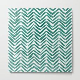 Zigzag - green Metal Print