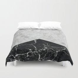 Concrete Arrow Black Granite #844 Duvet Cover