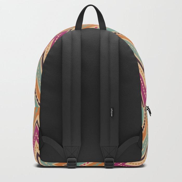 Seamless chevron zigzag pattern geometrical background Backpack