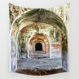 Arches of Fort Morgan Wall Tapestry