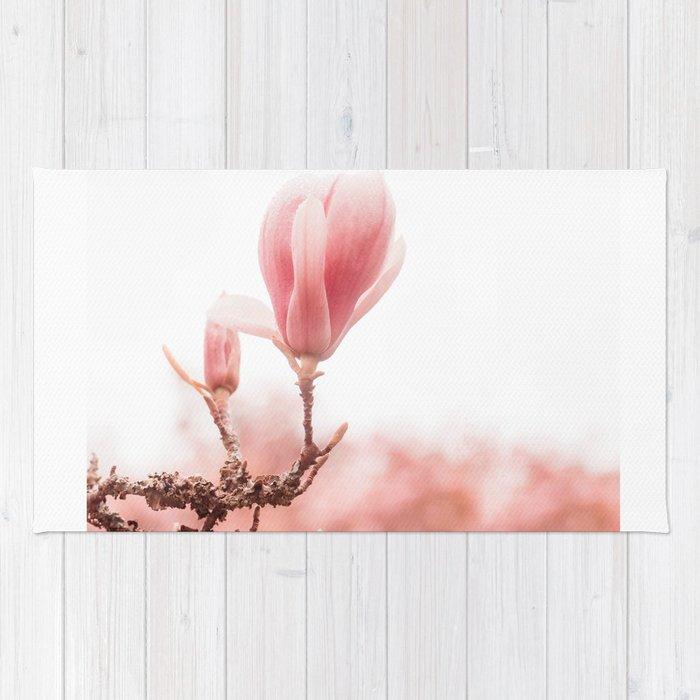 spring magnolia tree Rug