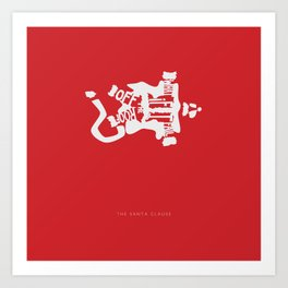 What if I Fall off the Roof? -The Santa Clause Art Print