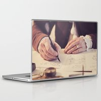 writing Laptop & iPad Skins featuring hand writing by Zsolt Kudar