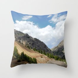 View North from the Sunnyside Mill at Eureka, on the Alpine Loop Throw Pillow