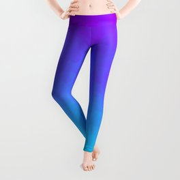 Blue and Purple Ombre - Swirly - Flipped Leggings