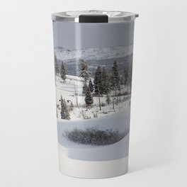 Yellowstone National Park - Blacktail Deer Plateau Panorama Travel Mug