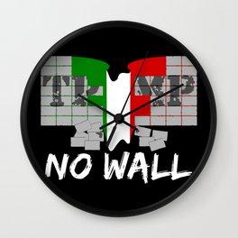 No wall TRUMP Wall Clock
