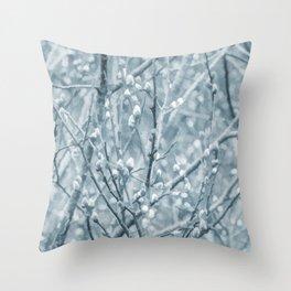 Springtime Pussy Willows Throw Pillow