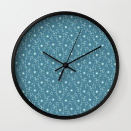 Hand drawn abstract Christmas reindeer pattern. Wall Clock