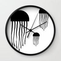 medusa Wall Clocks featuring Medusa by Kristijan D.