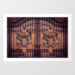 Royal Coat of Arms on the Gates of Buckingham Palace London Art Print