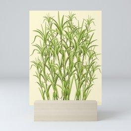 Sugar Cane Exotic Plant Pattern Mini Art Print