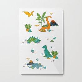 Quirky Dinos Metal Print