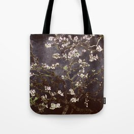Vincent Van Gogh Almond Blossoms dark gray slate Tote Bag