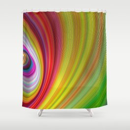 Vivid space Shower Curtain