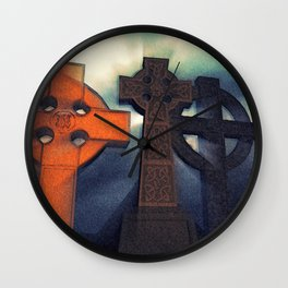 Celtic Cross Myst Wall Clock