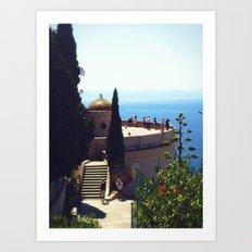 French Riviera Ruins Art Print