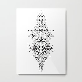 Ethnic Geometric Print Metal Print
