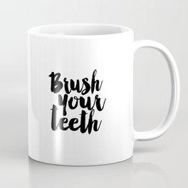 Brush Your Teeth Education Sign Nursery Typography Bathroom Decor Nursery Poster Printable Bathroom Coffee Mug