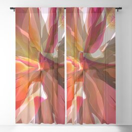 Coral Spiral Geometric Petals Blackout Curtain