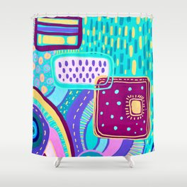 Pop Abstract Shower Curtain