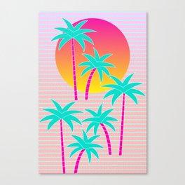 Hello Miami Sunset Canvas Print