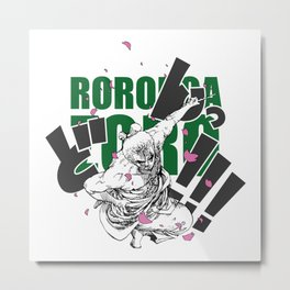 Seppuku Roronoa Zoro Metal Print