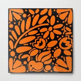 Beautiful Orange Otomi Metal Print