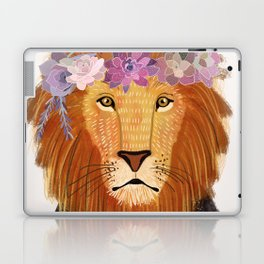 Lion with flowers on head Laptop & iPad Skin