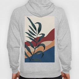 Abstract modern art leaf colored desert  Hoody