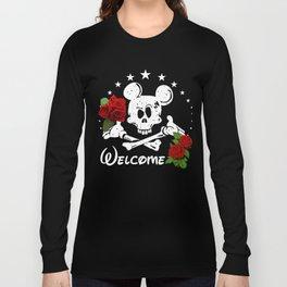 mouse skull Long Sleeve T-shirt