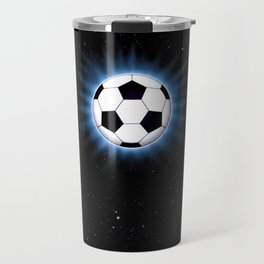 Spacey Soccer Ball Travel Mug