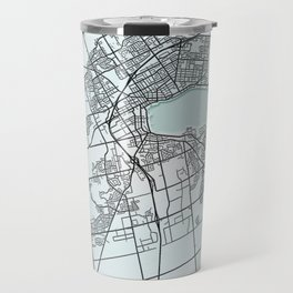Barrie, ON, Canada, White, City, Map Travel Mug