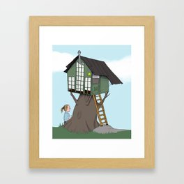 Little  treehouse Framed Art Print