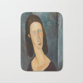 "Amedeo Modigliani ""Blue Eyes (Portrait of Jeanne Hébuterne) (1917)"" Bath Mat"