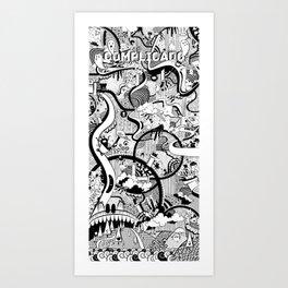 Complicado Doodle Art Print